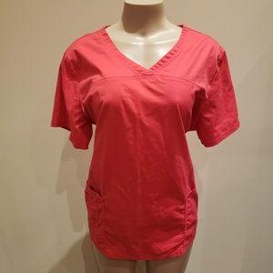 Pink Cherokee Scrub Top